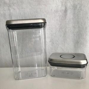 2 OXO Steel POP Containers